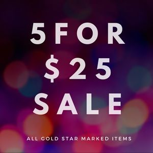 ⭐️ 5 for $25 sale! ⭐️
